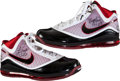 Basketball Collectibles:Others, 2009-10 LeBron James Game Worn, Signed Shoes. ...