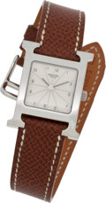 Luxury Accessories:Accessories, Hermes Classic H-Hour Watch. ...