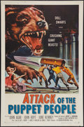 """Movie Posters:Science Fiction, Attack of the Puppet People (American International, 1958). One Sheet (27"""" X 41""""). Science Fiction.. ..."""