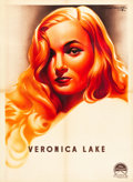 "Movie Posters:Film Noir, Veronica Lake Personality Poster (Paramount, 1944). French Affiche(22.5"" X 31"").. ..."