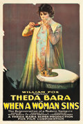 "Movie Posters:Drama, When a Woman Sins (Fox, 1918). One Sheet (28"" X 41"").. ..."