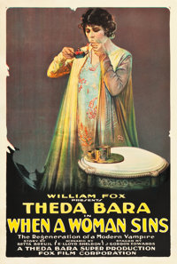 "When a Woman Sins (Fox, 1918). One Sheet (28"" X 41"")"