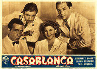 "Casablanca (Warner Brothers, 1946 and 1949). Italian Photobustas (2) (9.5"" X 13.5"" and 13.25"" X 19.25&quo..."