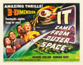 "Movie Posters:Science Fiction, It Came from Outer Space (Universal International, 1953). HalfSheet (22"" X 28"") Style B.. ..."