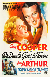 """Mr. Deeds Goes to Town (Columbia, 1936). One Sheet (27"""" X 41"""") Style B"""