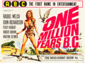 "Movie Posters:Fantasy, One Million Years B.C. (Associated British-Pathé, 1966). BritishQuad (30"" X 40"").. ..."
