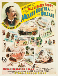 "A Day and Night in a Volcano (Unknown, 1891). Poster (21.5"" X 27.5"")"
