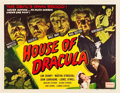 "Movie Posters:Horror, House of Dracula (Realart, R-1950). Half Sheet (22"" X 28"").. ..."