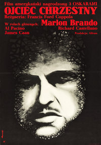 """The Godfather and The Godfather: Part II (CWF, 1973 and Paramount,1976). Polish B1 Verticals (2) (26.4"""" x 38.4""""..."""