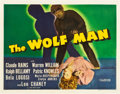 "Movie Posters:Horror, The Wolf Man (Universal, 1941). Half Sheet (22"" X 28"").. ..."