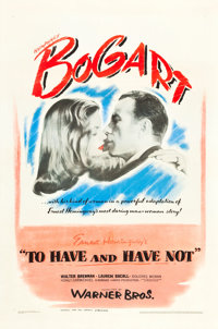 "To Have and Have Not (Warner Brothers, 1944). One Sheet (27"" X 41"")"