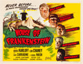 "Movie Posters:Horror, House of Frankenstein (Realart, R-1950). Half Sheet (22"" X 28"")....."