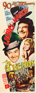 "Movie Posters:Comedy, The Bohemian Girl (MGM, 1936). Insert (14"" X 36"").. ..."