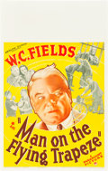 """Movie Posters:Comedy, Man on the Flying Trapeze (Paramount, 1935). Window Card (14"""" X 22"""").. ..."""