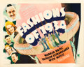 "Movie Posters:Musical, Fashions of 1934 (Warner Brothers, 1934). Half Sheet (22"" X 28"").. ..."