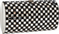 Luxury Accessories:Bags, Coblentz Black & Silver Deco Bead Minaudiere Evening Bag. ...