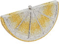 Luxury Accessories:Bags, Judith Leiber Very Rare, Early Design Full Bead Yellow Lemon SliceMinaudiere Evening Bag. ...