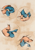 Prints, VARIOUS ARTISTS FROM ARGENTINA. 18 litographias de artist's argentinos, 1955. Lithographs. 19-1/4 x 14 inches (48.9 x 35...