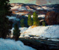 Fine Art - Painting, American:Modern  (1900 1949)  , WALTER KOENIGER (American, 1881-1943). Winter Landscape. Oilon canvas . 38 x 45 inches (96.5 x 114.3 cm). Signed lower ...