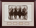 Football Collectibles:Others, Circa 1940's Four Horsemen Single Signed Note Cards Display....