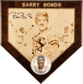 Autographs:Others, 1994 Barry Bonds Single Signed Baseball & Plaque Display....