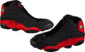 Basketball Collectibles:Others, 1997-98 Michael Jordan Game Worn, Signed Nike Air Jordan XIIIShoes. ...