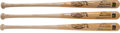 Autographs:Bats, Circa 1990 Ted Williams Signed Bats Lot of 3....