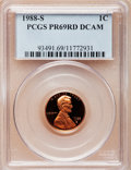 Proof Lincoln Cents, 1988-S 1C PR69 Red Deep Cameo PCGS. PCGS Population (2585/101). NGCCensus: (333/31). Numismedia Wsl. Price for problem fr...