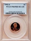 Proof Lincoln Cents, 1992-S 1C PR69 Red Deep Cameo PCGS. PCGS Population (5188/164). NGCCensus: (1273/141). Numismedia Wsl. Price for problem ...