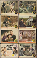"Movie Posters:Adventure, Lassie Come Home (MGM, 1943). Lobby Card Set of 8 (11"" X 14"").Adventure.. ... (Total: 8 Items)"