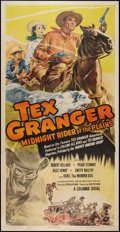 """Movie Posters:Serial, Tex Granger: Midnight Rider of the Plains (Columbia, 1947). Three Sheet (41"""" X 81""""). Serial.. ..."""