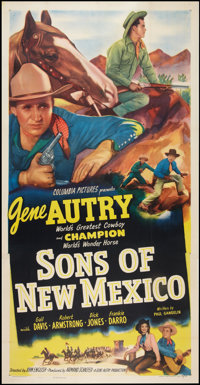 """Sons of New Mexico (Columbia, 1949). Three Sheet (41"""" X 81""""). Western"""
