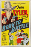 "Movie Posters:Western, Born to Battle (William Steiner, 1935). One Sheet (27"" X 41""). Western.. ..."