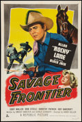 """Movie Posters:Western, Savage Frontier (Republic, 1953). One Sheet (27"""" X 41""""). Western.. ..."""