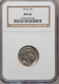 Buffalo Nickels: , 1914 5C MS66 NGC. NGC Census: (55/8). PCGS Population (137/19).Mintage: 20,665,738. Numismedia Wsl. Price for problem free...