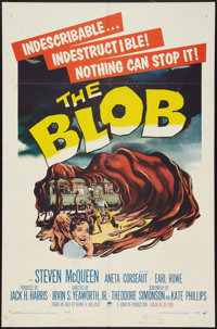 "The Blob (Paramount, 1958). One Sheet (27"" X 41""). Science Fiction"