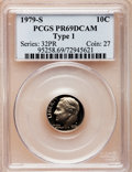 Proof Roosevelt Dimes: , 1979-S 10C Type One PR69 Deep Cameo PCGS. PCGS Population(4678/278). Numismedia Wsl. Price for problem...