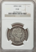 Barber Half Dollars: , 1898-O 50C Fine 15 NGC. NGC Census: (2/59). PCGS Population(15/127). Mintage: 874,000. Numismedia Wsl. Price for problem f...