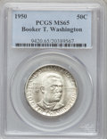 Commemorative Silver: , 1950 50C Booker T. Washington MS65 PCGS. PCGS Population (466/156).NGC Census: (268/158). Mintage: 6,004. Numismedia Wsl. ...