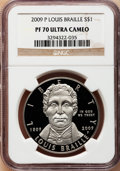 Modern Issues, 2009-P $1 Braille PR70 Ultra Cameo NGC. NGC Census: (552). PCGSPopulation (101). (#408826)...