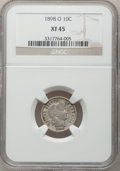 Barber Dimes: , 1898-O 10C XF45 NGC. NGC Census: (3/57). PCGS Population (7/73).Mintage: 2,130,000. Numismedia Wsl. Price for problem free...