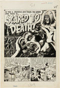 "Original Comic Art:Splash Pages, Wally Wood Tales From the Crypt #24 ""Scared to Death"" TitlePage 1 Original Art (EC, 1951)...."