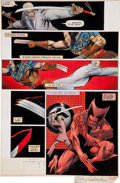 Original Comic Art:Panel Pages, Frank Miller, Joe Rubinstein, and Steve Oliff Wolverine #4Hand-Painted Page Original Art (Marvel, 1982)....