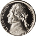 Proof Jefferson Nickels: , 1951 5C PR67 Deep Cameo PCGS. A fabulous specimen with crystal clear design elements and immense contrast between the frost...
