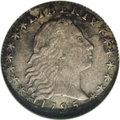 Early Half Dimes: , 1795 H10C --Corroded--ANACS. XF40 Details. V-4, LM-10, R.3. Asplendidly detailed Flowing Hair half dime. Primarily gunmetal...