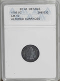Early Half Dimes: , 1795 H10C --Altered Surfaces--ANACS. XF45 Details. V-4, LM-10, R.3.Lightly worn with nice detail. The reverse displays some...