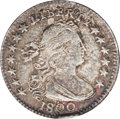 Early Half Dimes: , 1800 H10C XF40 ANACS. V-1, LM-1, R.3. This splendid early half dimeis adorned in dappled ocean-blue and golden-brown patin...