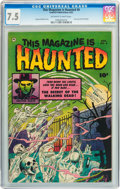 Golden Age (1938-1955):Horror, This Magazine Is Haunted #6 (Fawcett, 1952) CGC VF- 7.5 Off-whiteto white pages....