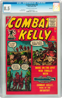 Combat Kelly #36 River City pedigree (Atlas, 1956) CGC VF+ 8.5 Off-white to white pages