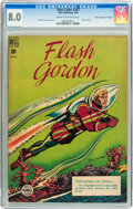 "Golden Age (1938-1955):Science Fiction, Four Color #247 Flash Gordon - Davis Crippen (""D"" Copy) pedigree(Dell, 1949) CGC VF 8.0 Cream to off-white pages...."
